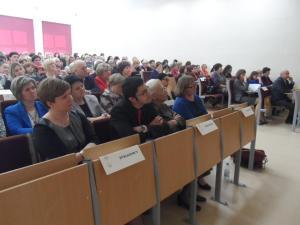 """Konferencja naukowo-szkoleniowa """"Prawno-etyczny wymiar zawodu pielęgniarki i położnej"""" Elbląg, 20.04.2015 r."""